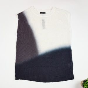 NWT J.Crew Black Brown and White Knitted Tank